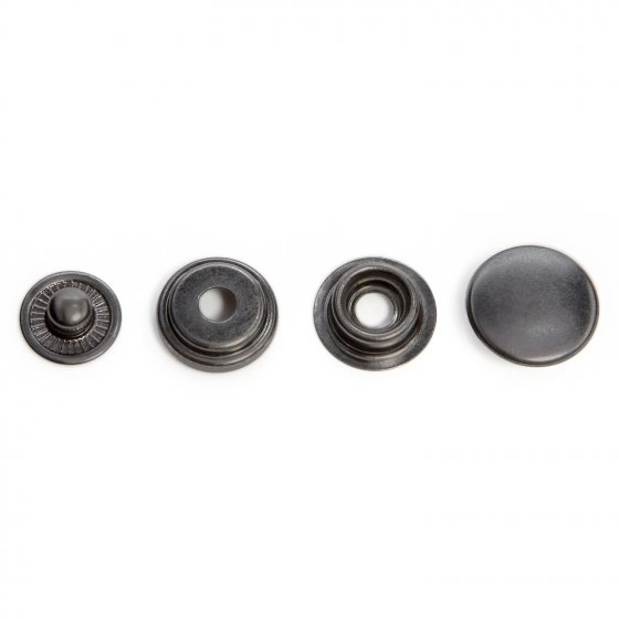 DOMES 15MM CAP BLACK NICKLE